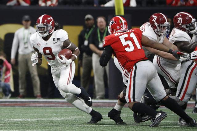 1/8/18 MFB vs Georgia Alabama running back Bo Scarbrough (9) Photo by Robert Sutton