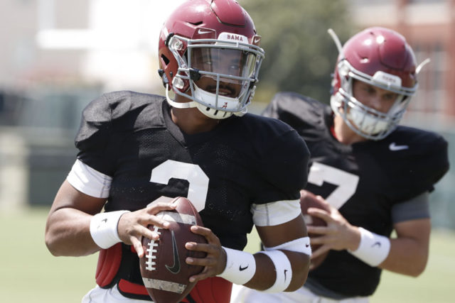 8/14/18 MFB Practice Alabama quarterback Jalen Hurts (2) Photo by Robert Sutton 8/14/18 MFB Practice Alabama quarterback Jalen Hurts (2) Photo by Robert Sutton
