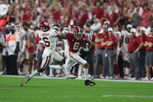 12-29-18 MFB vs Oklahoma Alabama wide receiver DeVonta Smith (6) Photo by Kent Gidley