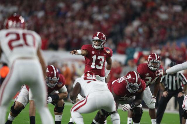 12-29-18 MFB vs Oklahoma Alabama quarterback Tua Tagovailoa (13) Photo by Kent Gidley